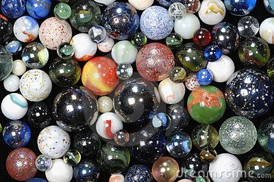 Glass-balls background in all dimensions