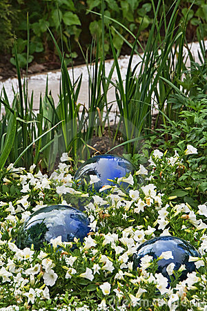 Glass balls and flowers
