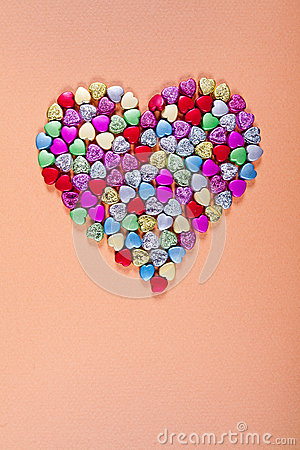 Glass beads heart shape