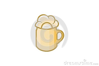 A Glass Of Beer Logo Designs Inspiration, Vector Illustration. Vector Illustration