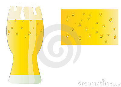 Glass of beer and surface