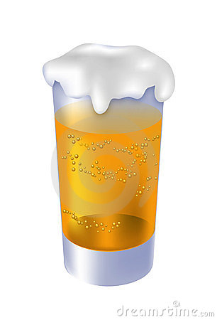 Glass of beer - vector