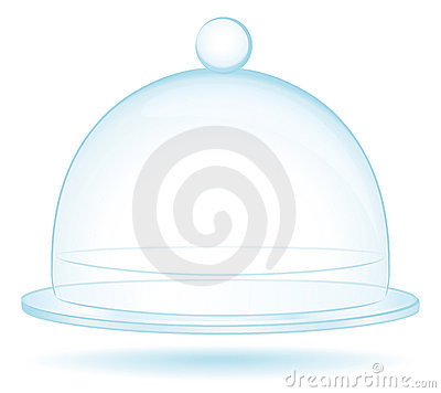 Glass bell empty for cooking or protection concept