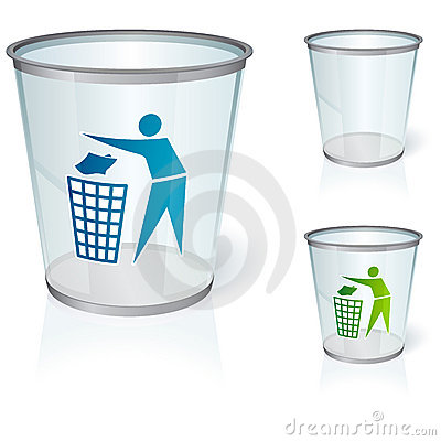 Free Glass Bin Royalty Free Stock Image - 7771216