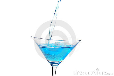 Glass with blue cocktail 2