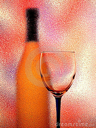 Glass And Bottle Abstract Background