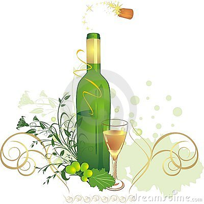 Free Glass, Bottle And Vine. Holiday Composition Royalty Free Stock Photography - 11498117