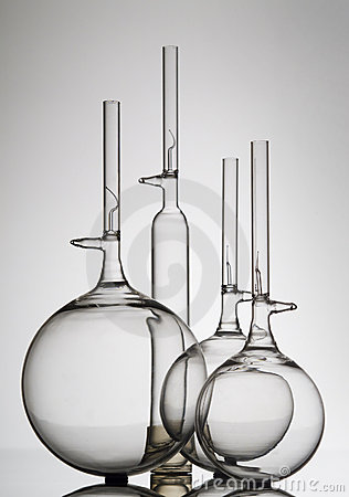 Glass bottle and flasks