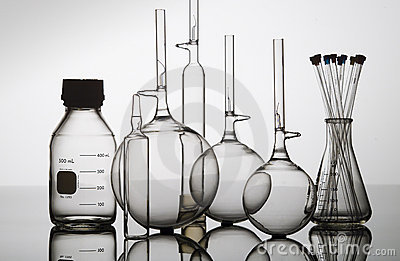Glass bottle,flasks and beakers