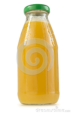 Glass Bottle of Orange Juice