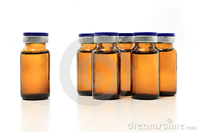 Glass bottles with drug