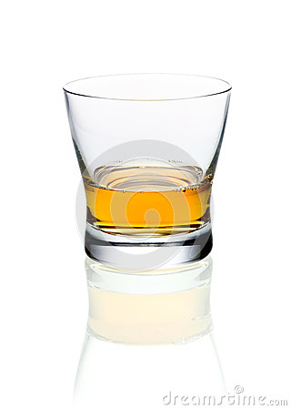 Glass of brandy or whisky