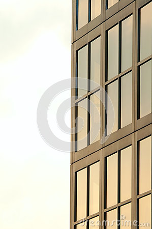 Glass window building