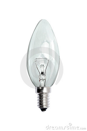 Glass bulb. Isolated image.