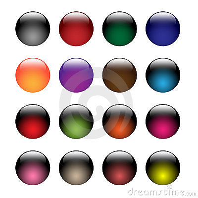Free Glass Buttons Royalty Free Stock Photos - 13998178