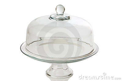 Glass cake tray