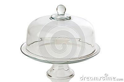 Glass cake tray