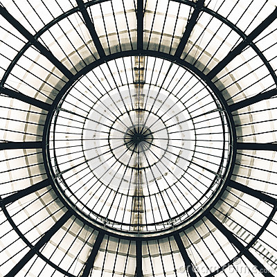 Free Glass Ceiling Dome Pattern, Milan, Italy Royalty Free Stock Photo - 27695745