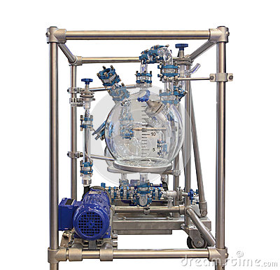 Free Glass Chemical Reactor Royalty Free Stock Photos - 28091168