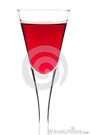 Glass of cherry liquor
