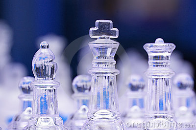 Glass chess figures