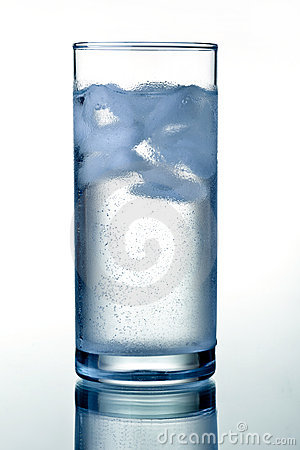 Glass of clear mineral water