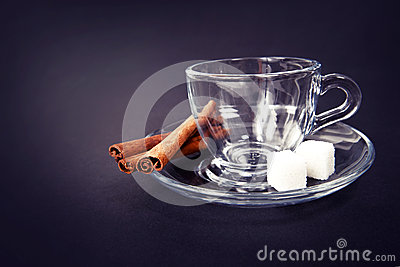 Glass coffee cup