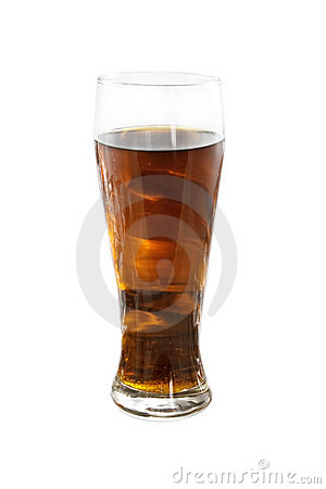 Glass with cold beer