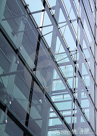 Glass and concrete construction with reflections