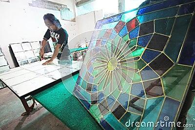 Glass craft Editorial Photo