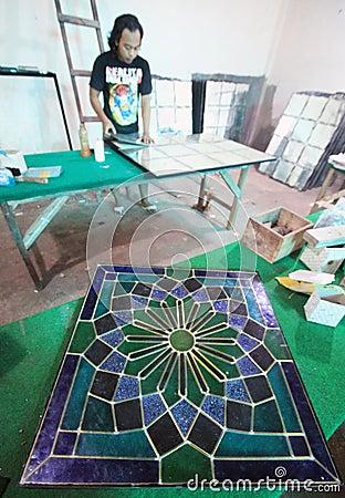 Glass craft Editorial Stock Image
