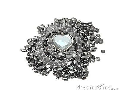 Glass crystal heart