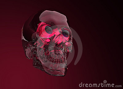 Glass Crystal Human Skull