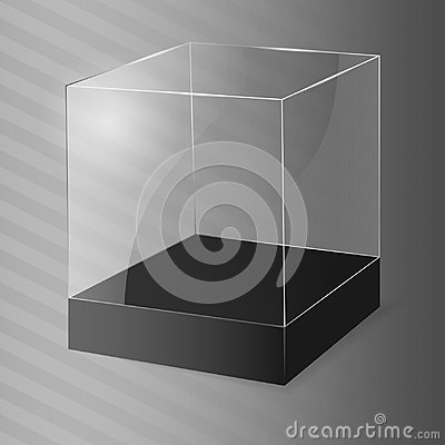 Free Glass Cube. Vector Illustration. Royalty Free Stock Photos - 107749368