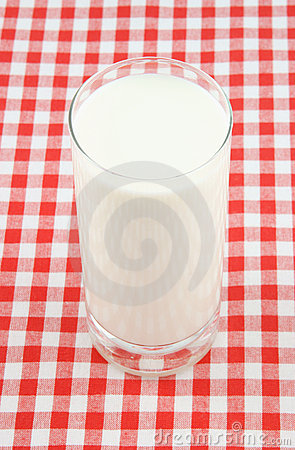 Glass cup of milk