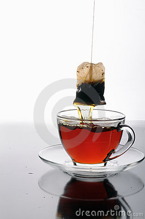 Free Glass Cup Of Tea And A Tea Bag Royalty Free Stock Photos - 8510428