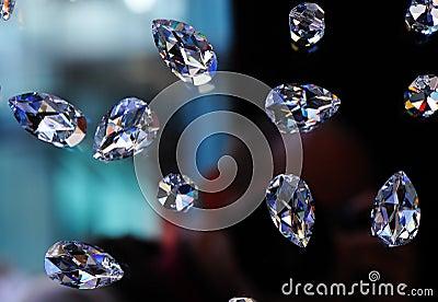 Glass diamonds