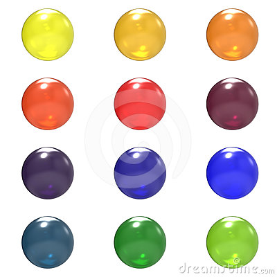 Glass different color balls group
