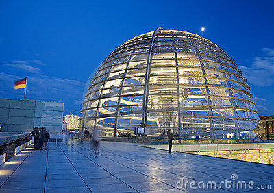 Glass Dome on the Roof of the Reichstag in Berlin