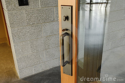Glass Door With Brass Handle