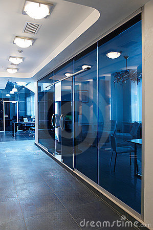 Free Glass Doors In The New Office Stock Photo - 12784680