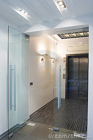 Free Glass Doors In The New Office Stock Photos - 12784723