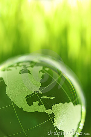Free Glass Earth In Grass Stock Photos - 9807423