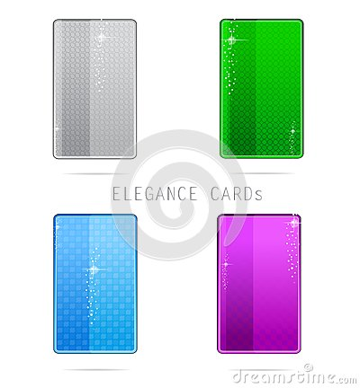 Glass elegance and clean cards set