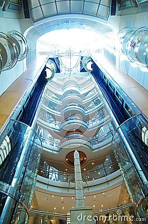 Glass elevator Editorial Stock Image