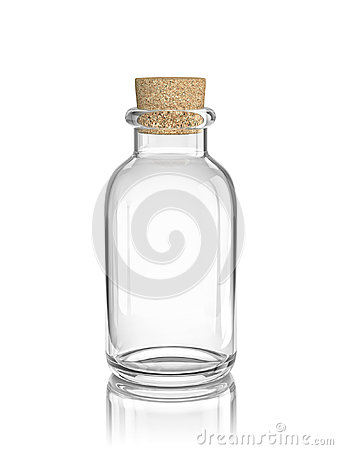 Free Glass Empty Bottle With Cork Stock Photography - 98769432