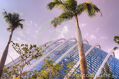 Glass enclosure, Gardens by the Bay, Singapore Editorial Photography