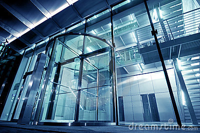 Glass Entrance to Modern Building