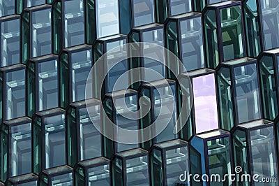 Glass facade pattern