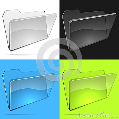 Free Glass File Folder Royalty Free Stock Image - 34887116